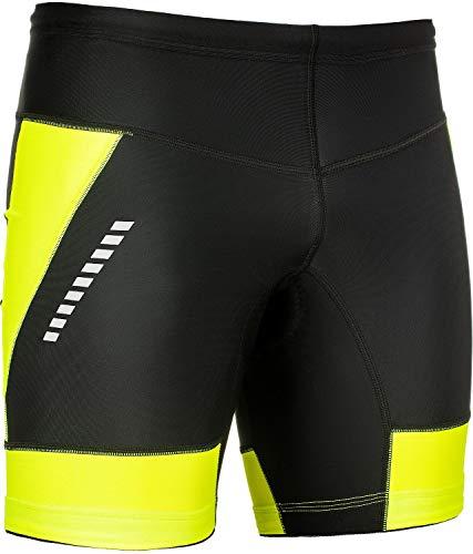 STANTEKS Radhose Kurz Fahrradhose Shorts ohne Träger Radlerhose mit Bike Pro-Air 3D Coolmax Sitzpolster Herren Damen Unisex Atmungsaktiv Reflektoren Thermo Leggings SR0070 (Schwarz-grün, M) (Bike-cannondale Damen)