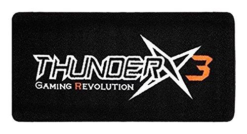 thunderx3 Bodenschutzmatte für Bürostuhl, Vinyl, Schwarz, 100 x 50 cm