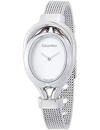 Calvin Klein K5H23126 - Reloj de pulsera Mujer, Acero inoxidable, color Plata