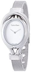 Idea Regalo - Calvin Klein Orologio Analogico Quarzo Donna con Cinturino in Acciaio Inox K5H23126