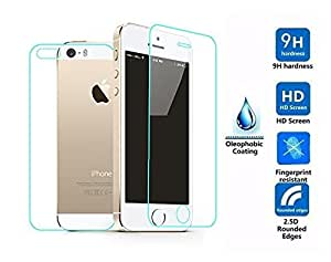 Celltone (TM) Premium Tempered glass for Apple Iphone Se , Iphone 5 , Iphone 5S ( Front + Back Side )
