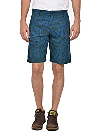 YOO Men's Cotton Graphic Print Casual Regular Fit Short