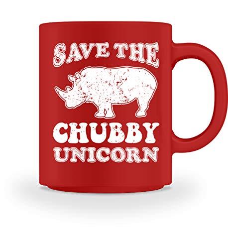 Baby Tasse Kaffee Kostüm (PlimPlom Save The Chubby Unicorn - Nashorn Spruch Kaffeetasse - Tasse)