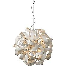 NOVA Designer Wohnzimmerlampe LED Halogen Weiss Hohenverstellbar Dimmbar G9 Fassung