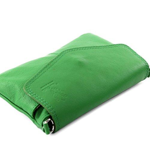 Borsa a tracolla borsa Messenger in vera pelle italiana T05 Grün