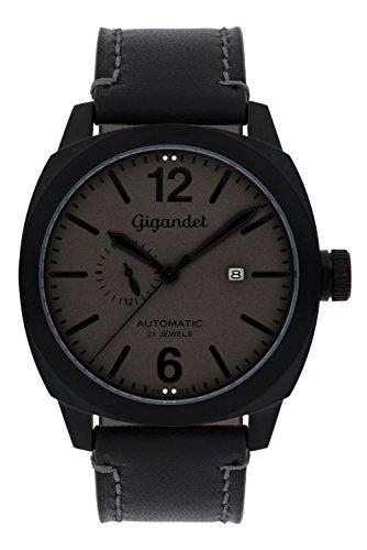 Gigandet G16-007Montre pour Hommes à Bracelet en Cuir Noir