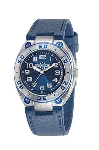 Chronostar Watches Unisex-Armbanduhr Kinder ALLUMINIUM COLLECTION Analog Quarz Leder R3751224001