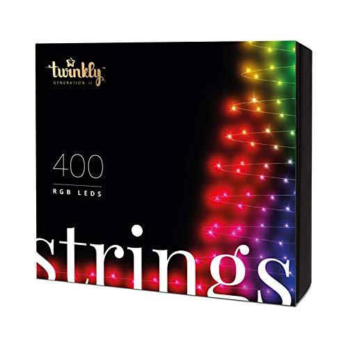 Stringa di luci controllabile tramite smartphone con 400 led rgb multicolore