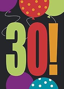 """Partido Ênico 30""""cumpleaños Cheer"""" Invitaciones del partido (paquete de 8)"""