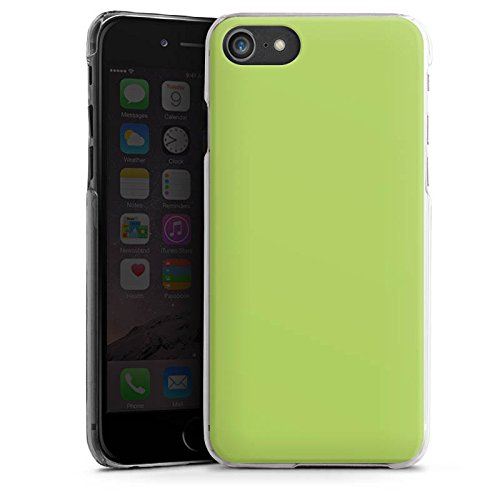 Apple iPhone SE Tasche Hülle Flip Case Lindgrün Frühling Grün Hard Case transparent