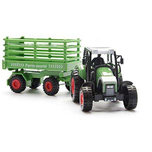 Gaoominy Bauernhof Traktor Modell Set Spielzeug Hohe Simulation Modell Traktor Fuer Jungen und Maedchen