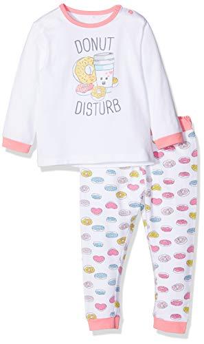 Chicco Baby-Mädchen Zweiteiliger Schlafanzug Pigiama Manica Lunga Pink (Bianco E Rosa 031) 80 (Herstellergröße: 080)