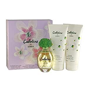 Gres Parfums Cabotine Eau De Toilette 100ml/ Body Lotion 200ml and Shower Gel 200ml Gift Set For Her