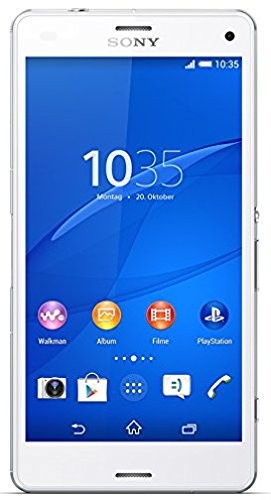 Sony Xperia Z3 compact LTE Smartphone (11,7 cm (4,6 Zoll) HD-TRILUMINOS-Display, 2,5GHz, 2GB RAM, 20,7 Megapixel Kamera, Android 4.3) weiß [T-Mobile Branding]