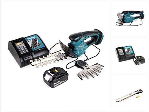 Makita DUM 168 18V Li-ion Akku Grasschere + 1x BL1840 4,0 Ah Akku + 1x DC18RC Ladegerät + 1x UH 200 D 20 cm Schermesser