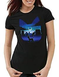 style3 Luna Camiseta para Mujer T-Shirt Anime Sailor Piedra