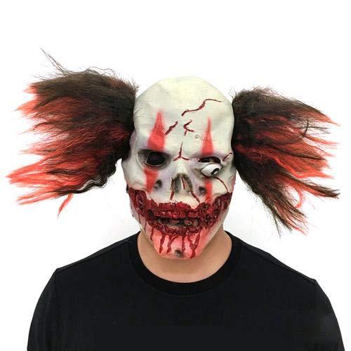 myonly Halloween Horror Clown Maske aus Latex Kopfbedeckung -