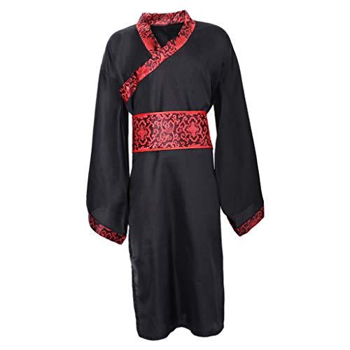 Sharplace Männer Hanfu China Traditionelle Lange Ärmel Kleidung Tang Anzug Cosplay Kostüm Karnevalskostüm - M