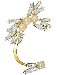 Via Mazzini NightClub Crystal Flower Ear Cuff-Wrap Earring (Right Ear Only)
