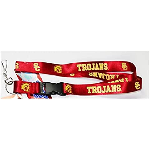 UNIVERSITY OF SOUTHERN CALIFORNIA , USC TROJANS RED BREAKAWAY LANYARD ( Football, Basketball, Softball, Baseball,NCAA) by Capcom