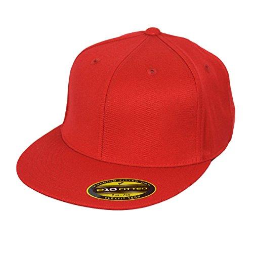 Flexfit Cap Blanko Mütze 210 Premium Fitted rot - L/XL 210 Flex Cap