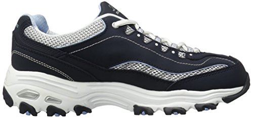 Skechers  D'Lites Centennial,  Sneaker donna Blu (Navy/White/Light Blue)