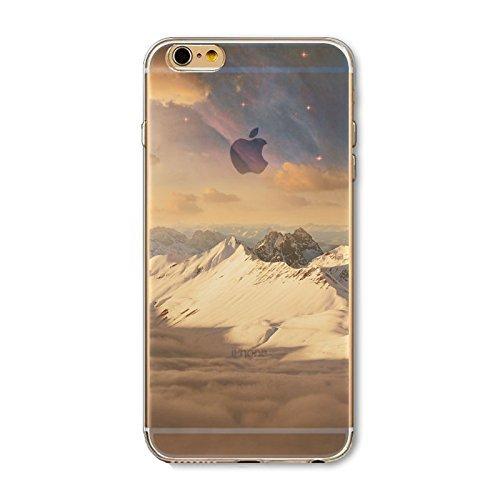 Coque iPhone 7 Housse étui-Case Transparent Liquid Crystal en TPU Silicone Clair,Protection Ultra Mince Premium,Coque Prime pour iPhone 7-Paysage-style 5 9