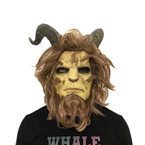 hcoser Die Schöne und das Biest Maske Beauty and The Beast Masken Cosplay Halloween Party für Erwachsene - Cosplay Beauty Beast
