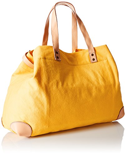 Liebeskind BerlinMimiU uni canvas + vegetable, Borsa shopper Donna Giallo (Gelb (solar power 1392))