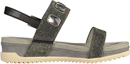 Signore sandalo nero formato Tamaris 36-41 1-28210-047 toccarlo Nero