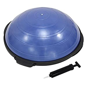 POWRX Dynaso Balance Ball inkl. Pumpe beidseitig nutzbar I 55 od. 60cm I Balance Trainer/Board für Gleichgewichtsübungen