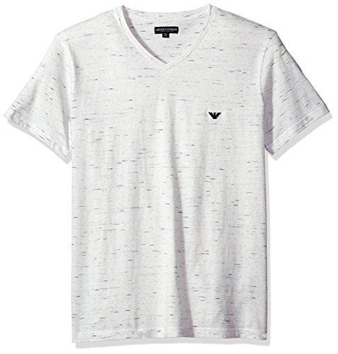 Emporio Armani T-shirt Top (Emporio Armani Herren T-Shirt 7P579 (L, 08510 MELANGE WHITE))