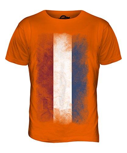 CandyMix Niederlande Verblichen Flagge Herren T Shirt Orange