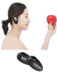1pair Peluquero negro Plastic Hairdressing pelo colorante Protector de la cubierta del oído