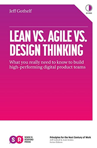Lean vs. Agile vs. Design Thinking: What You Really Need to Know to Build High-Performing Digital Product Teams por Jeff Gothelf