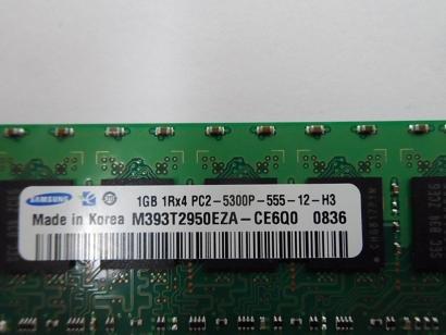 M393T2950EZA-CE6Q0 - M393T2950EZA-CE6Q0 Samsung 1GB(1x1GB)DDR2 667MHz PC2-5300 ECC + Registered SERVER Memory