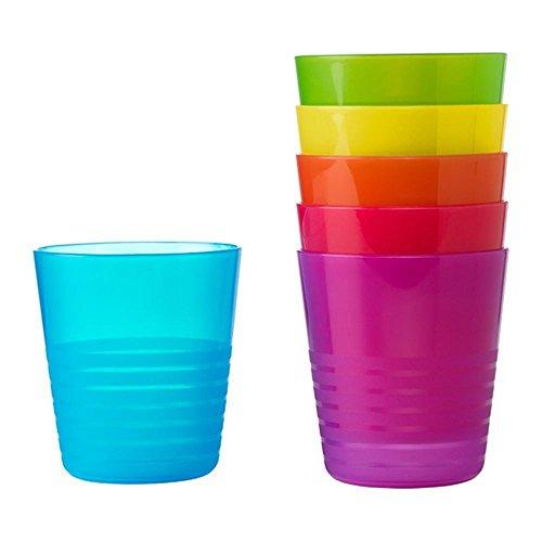 Elegant Fancy Design Standard Plastic Designer Party Mugs in 6 Assorted Colors