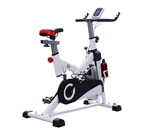 Homcom – Cyclette per Allenamento Professionale Fitness 103 × 45 × 105cm Bianco