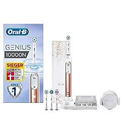 Oral-B Genius 10000N Elektrische Zahnbürste, mit Zahnfleischschutz-Assistent und Premium Lade-Reise-Etui, roségold