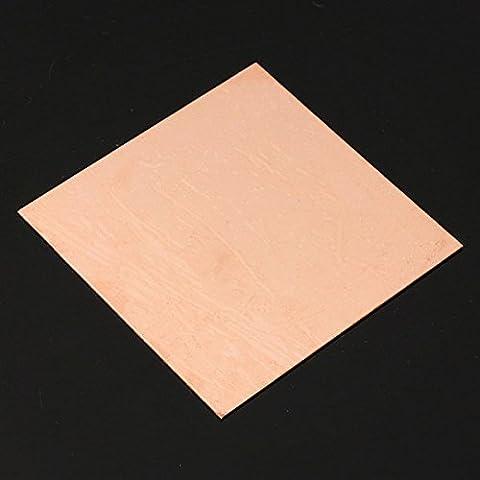 Pink Lizard 99.9% foglio di rame puro placca di metallo 1 millimetro * 100mm * 100mm
