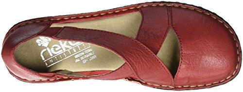 Rieker Damen 49863 Geschlossene Ballerinas Rot (rosso / 34)