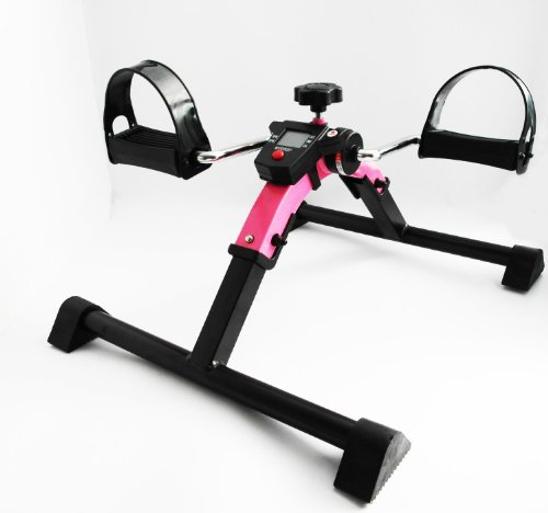 Pinker Bewegungstrainer digital Pedaltrainer Beintrainer Armtrainer Arm Bein Trainer