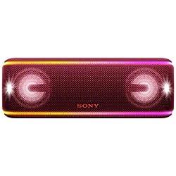 Sony SRSXB41R - Altavoz portátil Bluetooth (Extra Bass, Modo Sonido Live, Party Booster, Luces de Fiesta llamativas, Conector USB para Cargar Smartphone), Color Rojo