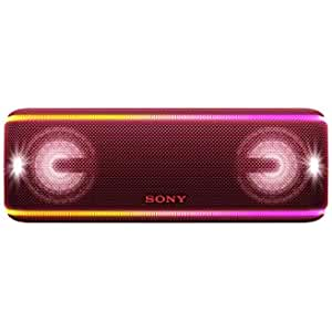 Sony SRSXB41W - Altavoz portátil Bluetooth (Extra Bass, Modo Sonido Live, Party Booster, Luces de Fiesta llamativas, Conector USB para Cargar Smartphone), Color Blanco