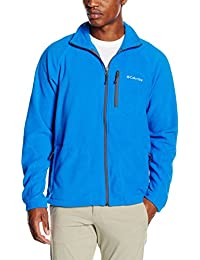 Columbia Fast Trek II Full Zip Fleece, Chaqueta Polar Para Hombre, Azul (Super Blue/Graphite), S