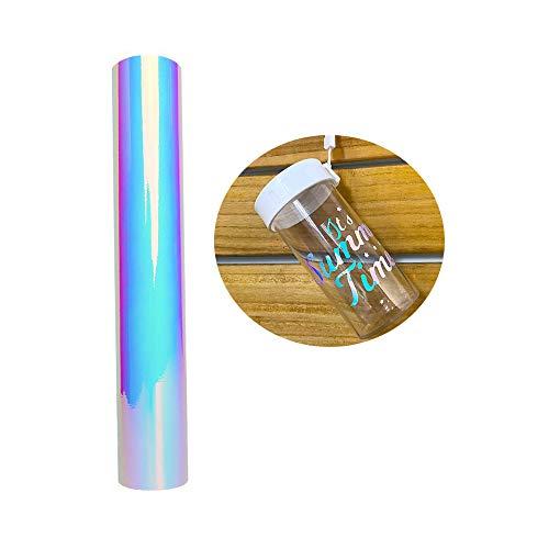 Opal Weiß Holographic Chrome Adhesive Vinyl Rolle 30.5x122cm (1x4ft) für die Dekoration -