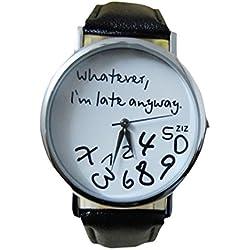 Zolimx Heiß Damen Leder Uhr Uhren Schwarz