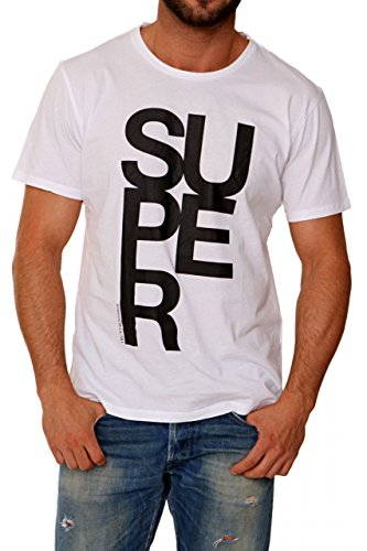 Trussardi tru maglietta stampata, colore: bianco, taglia: xs