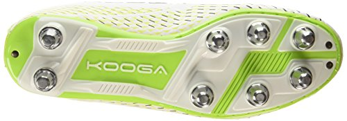 Kooga Combat, Chaussures de Rugby homme Blanc (white/lime)