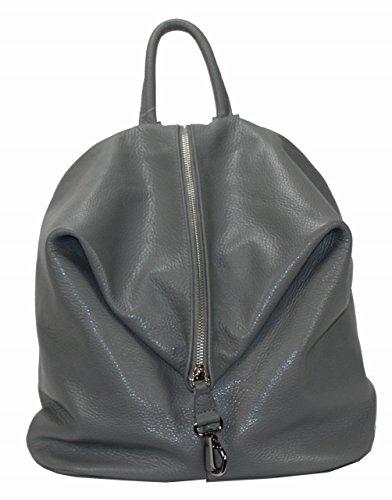 BZNA Bag Mara Hellgrau Backpacker Designer Rucksack Ledertasche Damenhandtasche Schultertasche LederItalyNeu